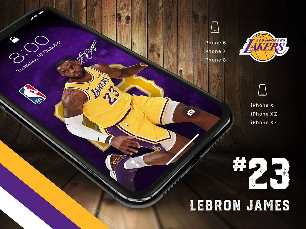 23 Lebron James Los Angeles Lakers Iphone X Xs Xr Wallp Flickr