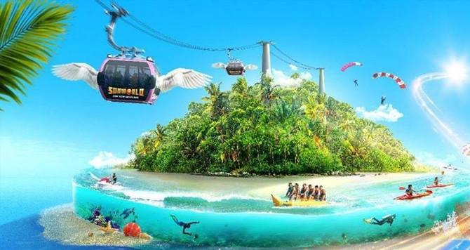 """ĐIỂM MỚI  """"SUNSET SANATO""""- Sunworld Hòn Thơm Nature Park Phú Quốc- ĐẢO HÒN THƠM"""