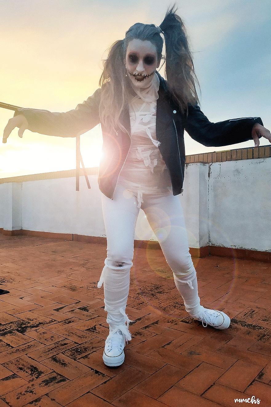 disfraz casero momia zombie Halloween