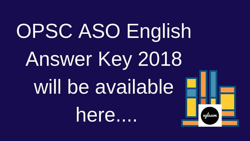 OPSC ASO Answer key 2018 - English