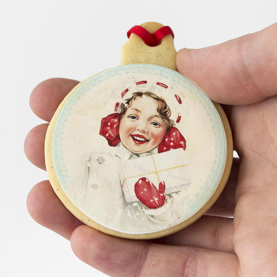 galletas de Navidad decoradas bola