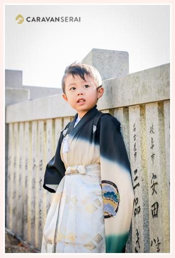 3歳の男の子の七五三 犬山成田山