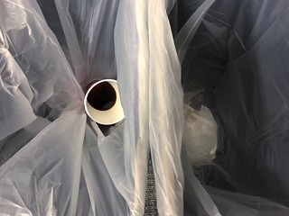 Coffee cup in garbage can plastic bag | by stevendepolo