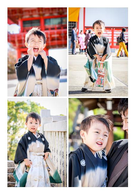 3歳の男の子の七五三 犬山成田山 愛知県犬山市