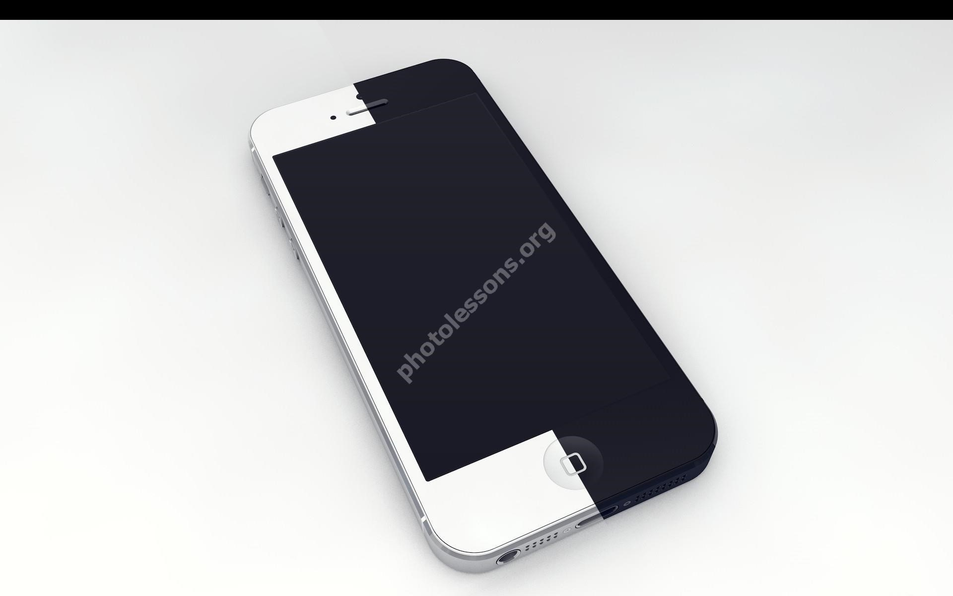 Photoshop source – black and white: iPhone