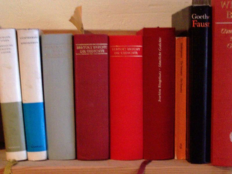 Bücherregal mit zweimal Brecht