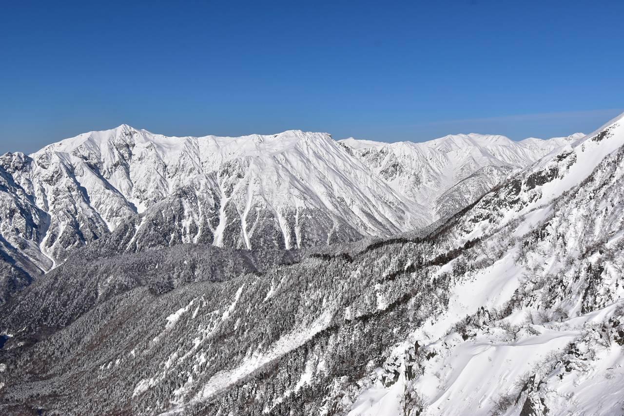笠ヶ岳~裏銀座の雪景色