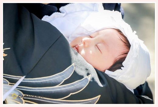 お宮参り 寝ている赤ちゃん
