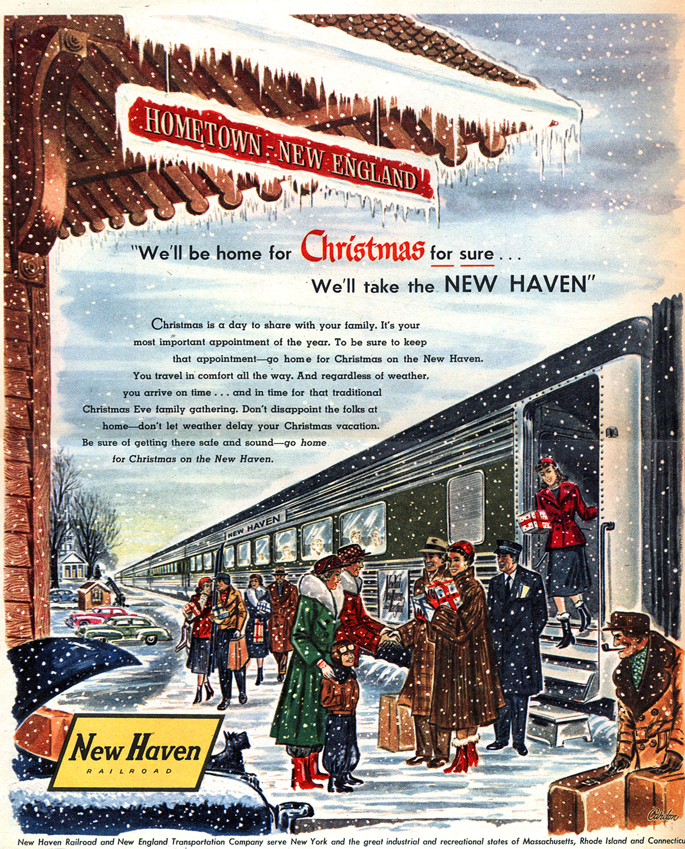 New Haven Railroad - published in The New York Times Magazine - December 1953