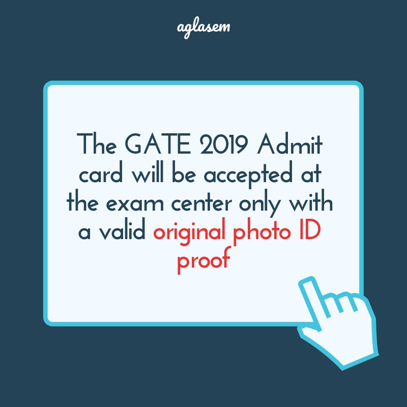 GATE 2019 Admit Card / Hall Ticket (Available) - Live