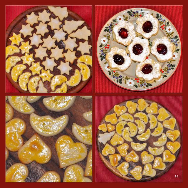 Weihnachtsbäckerei 2018 --- Zartes Buttergebäck --- Fotos und Collage: Brigitte Stolle