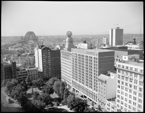 View of Sydney from AWA building towards Menzies Hotel and Wynyard Station | by NSW State Archives and Records
