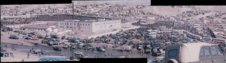 1994 Ulaanbaatar black market panorama of 3 photos | by jimnosredna