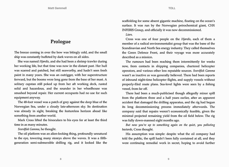 Apple Books ebook chapter heading page