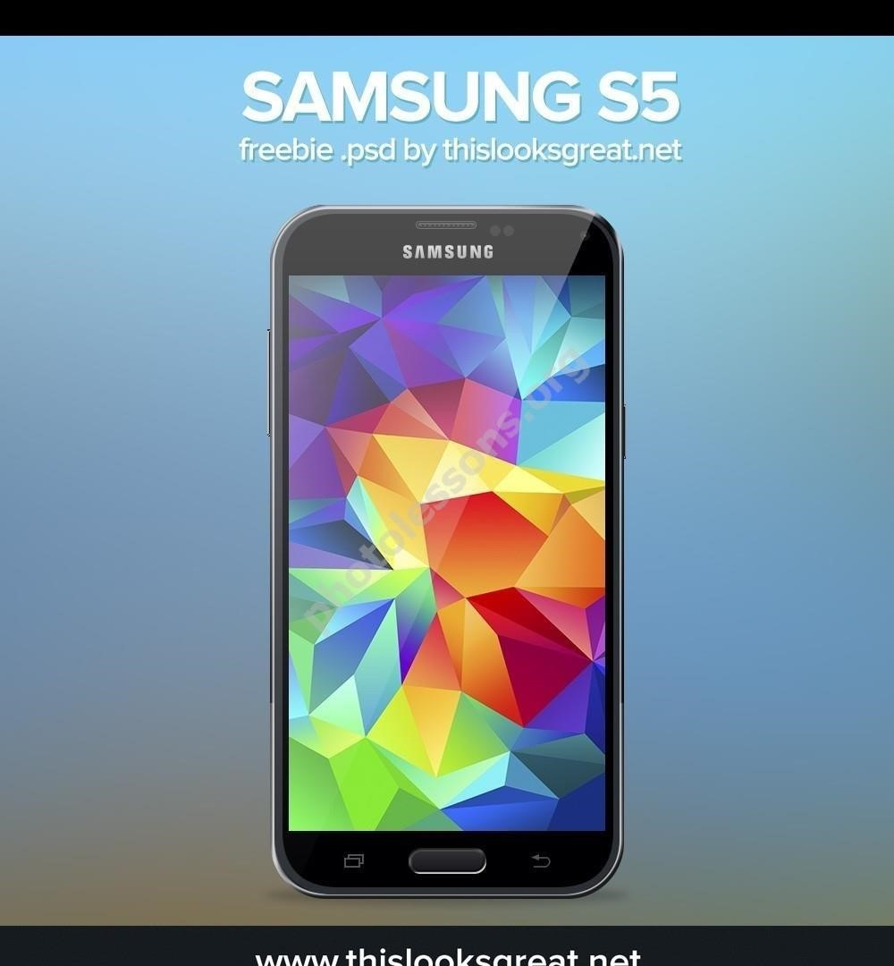 Samsung Galaxy S5 – download Photoshop source .PSD