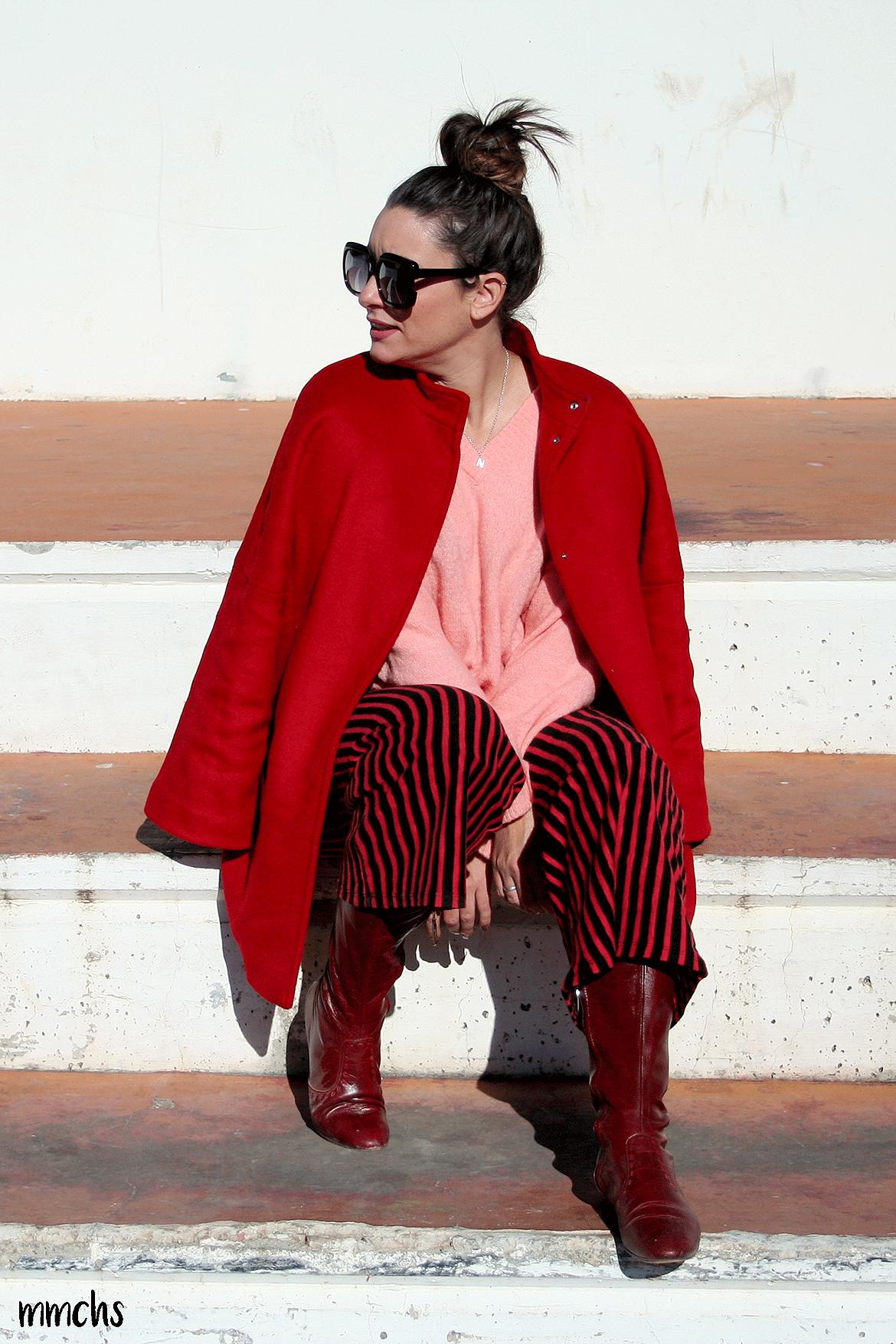 look rojo de mujer