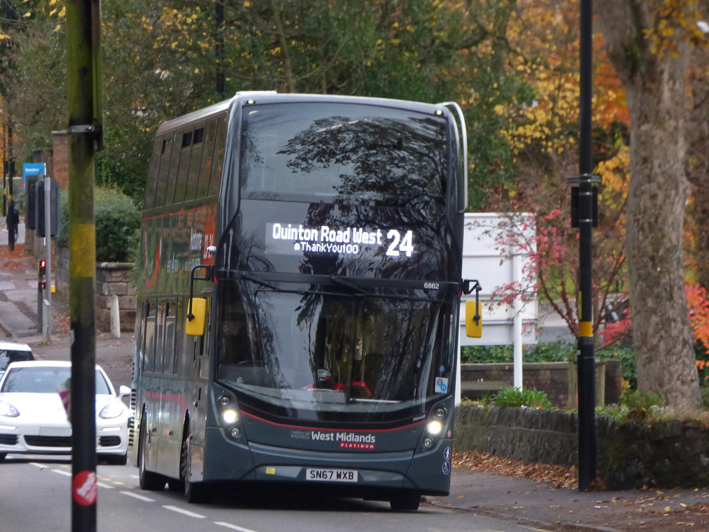 Thank You 100 National Express West Midlands Platinum Bus On The 24 Westbourne Road