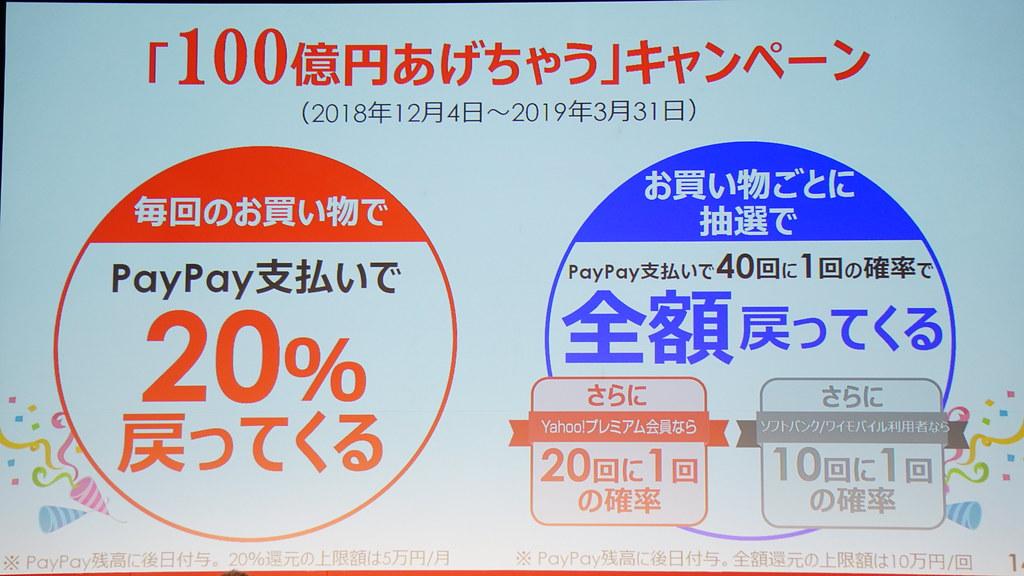 PayPayのキャンペーン - 100億円あげちゃうキャンペーン