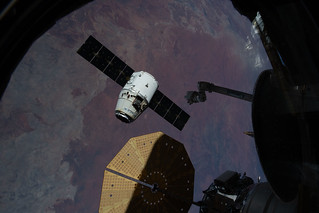 SpaceX Dragon released from the Canadarm2 | by NASA Johnson