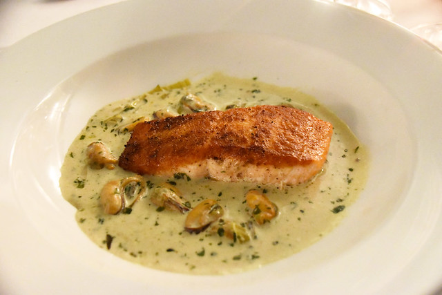 Salmon and mussels, Trigony House Hotel, Thornhill, Dunfries and Galloway, Scotland