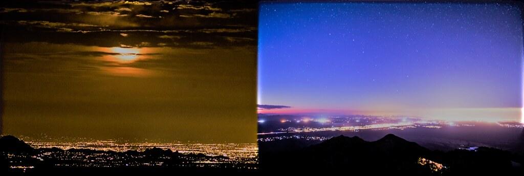 土桑(Tucson)的光害。Bettymaya Foott攝。