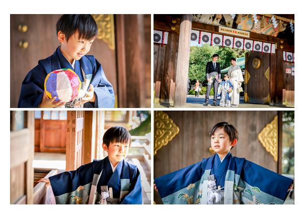 砥鹿神社で七五三のロケーションフォト♪ちょっぴりシャイな5歳の男の子(愛知県豊川市)