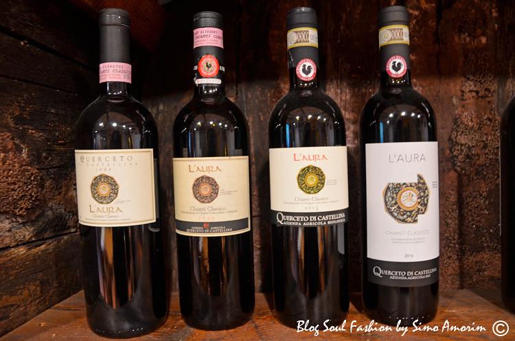 Um dos vinhos orgânicos da Querceto di Castellina: o Laura, que tem o nome da proprietária da vinícola. É também um dos meus preferidos
