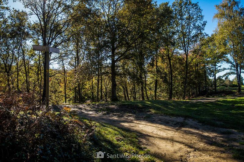 Cruce de caminos entre La Salut y las Roques Encantades