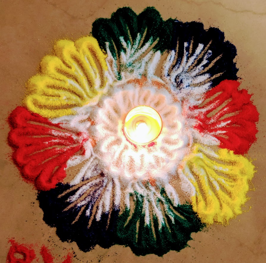 Rangoli competition at AglaSem