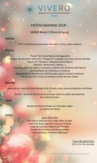 Menú Grupos Navidad 3 El Vivero