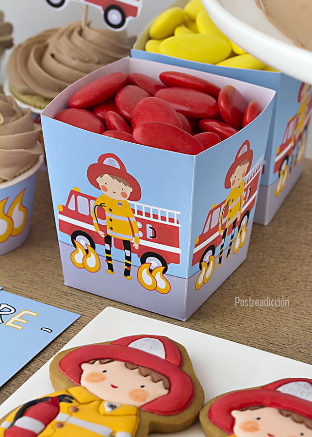 cumpleaños niño bombero