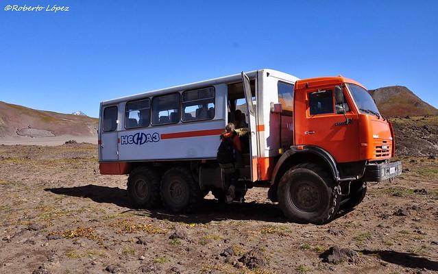 Camión 6x6 que utilizaremos en Kamchatka