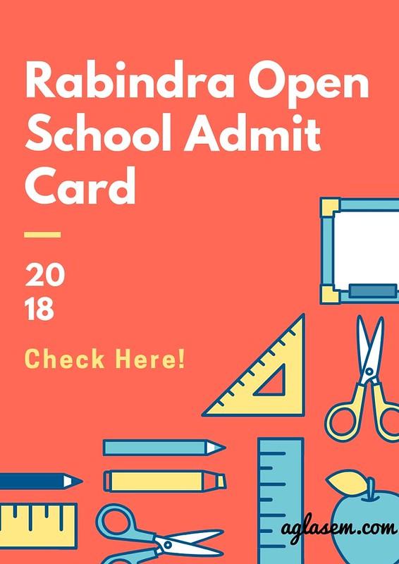 Rabindra Open Schooling Admit Card 2018