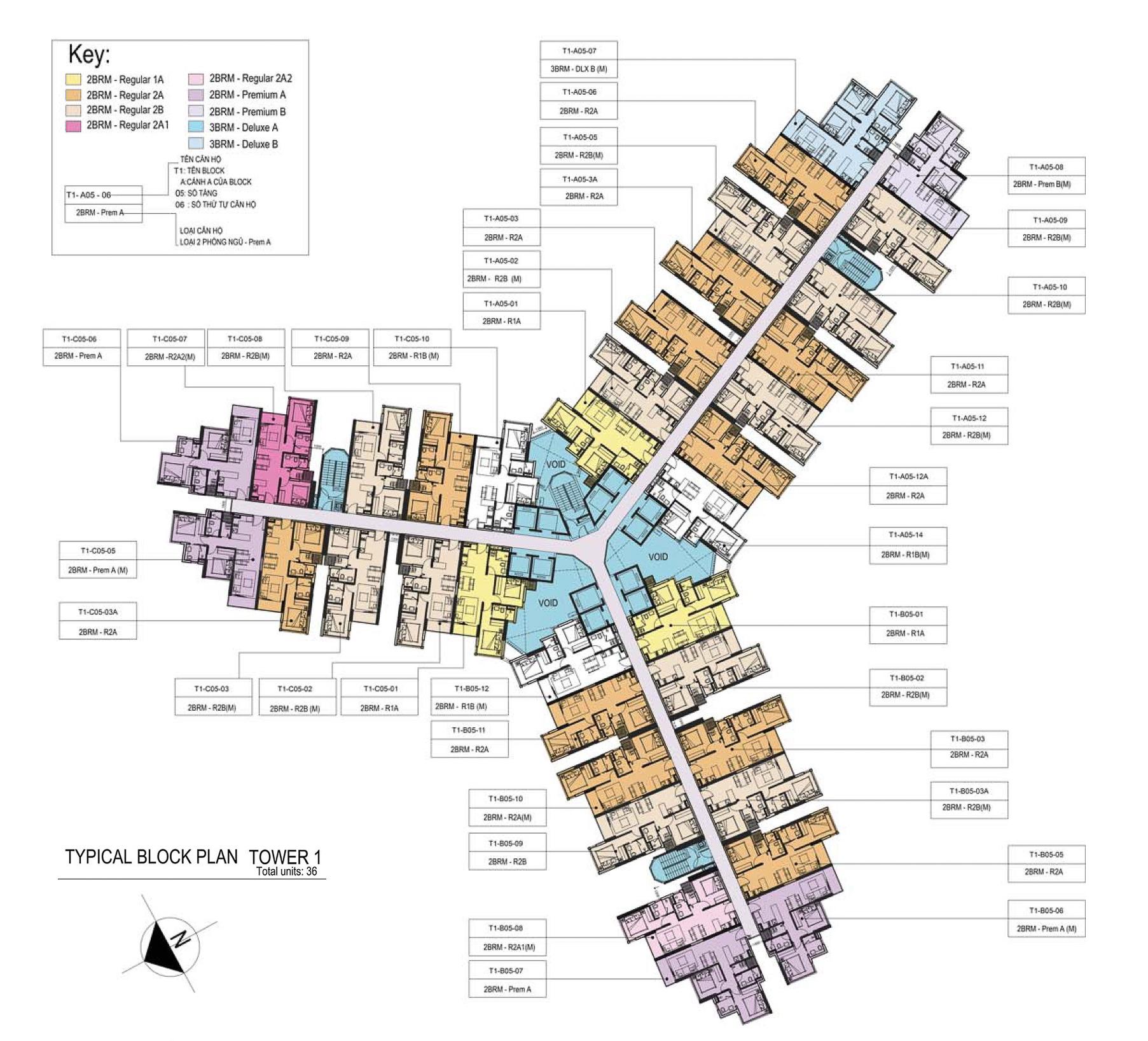 Mặt bằng layout dự án Metro Star Quận 9