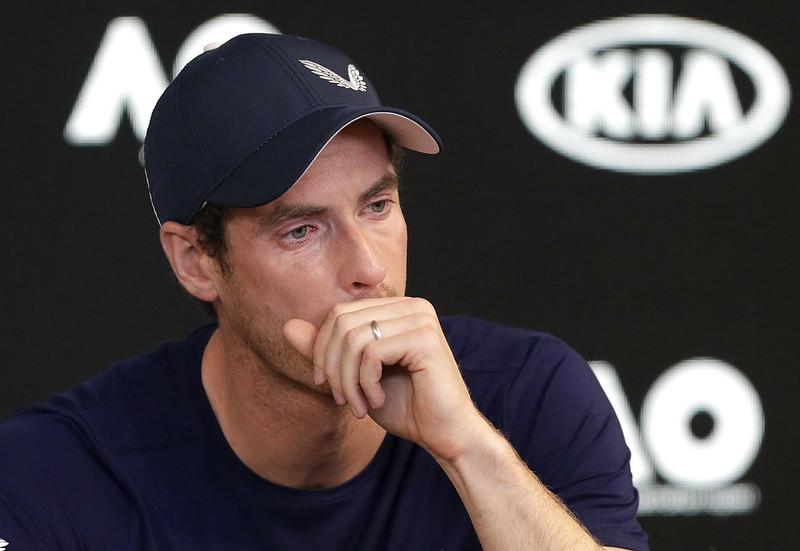 Andy Murray在記者會上難掩激動情緒。(達志影像)