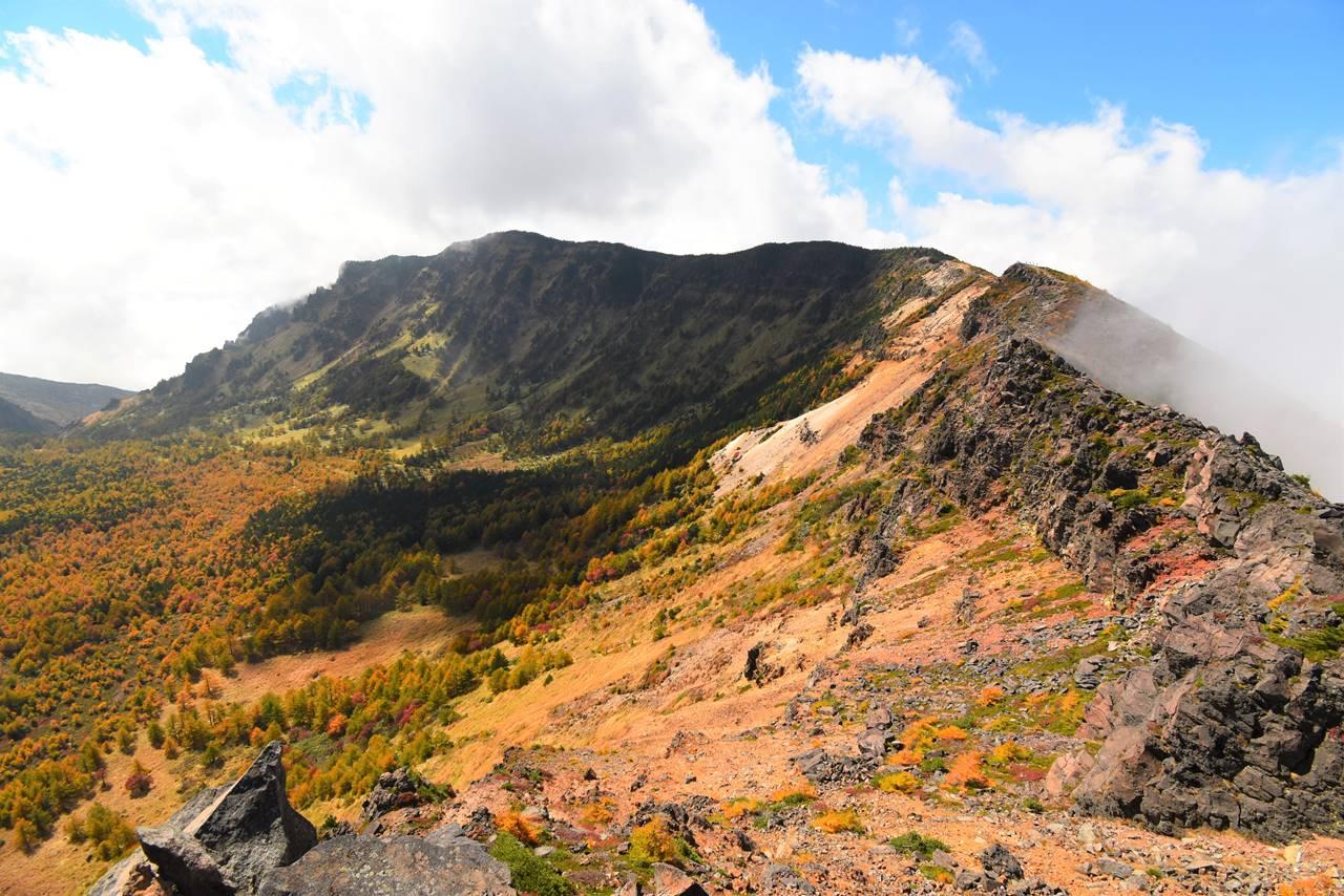 浅間山外輪山と紅葉