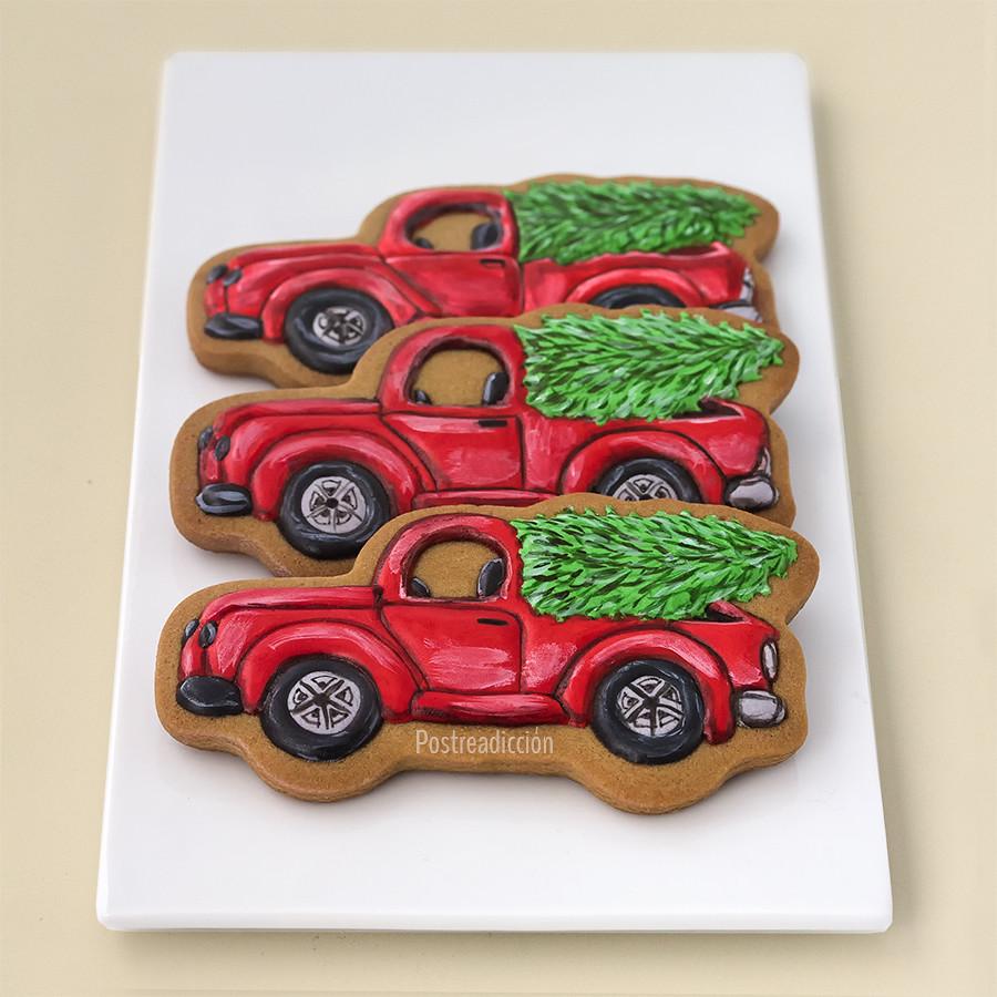galleta camión con árbol