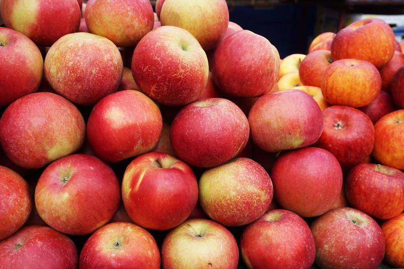 apples at Zagreb's Dolac market