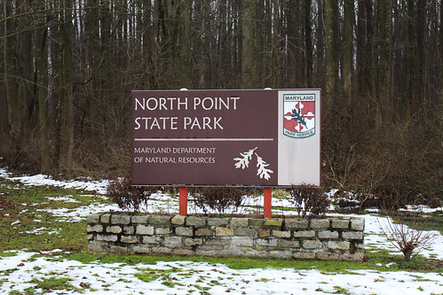 Photo of North Point State Park entrance sign