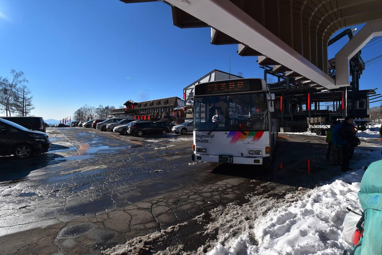 北八ヶ岳ロープウェイからバスでJR茅野駅へ