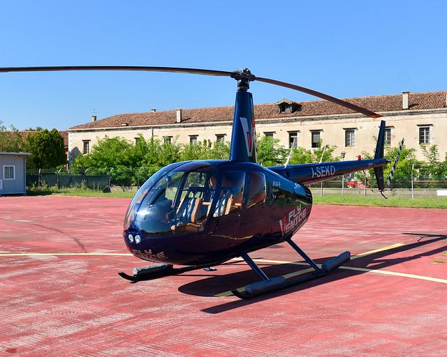Helicóptero en Venecia de la empresa FlyVenice