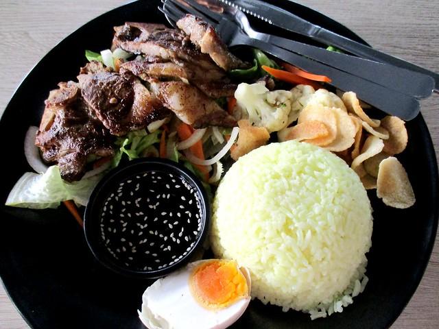 Nasi kerabu lamb chop 1