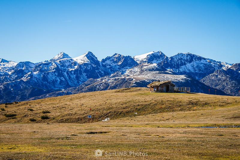 Hacia la cabaña de Isarges en el Plateau de Beille