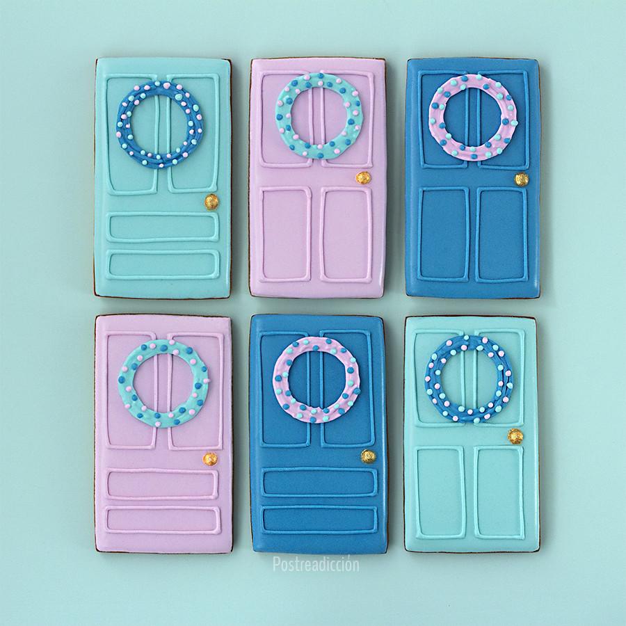 galletas puertas navideñas
