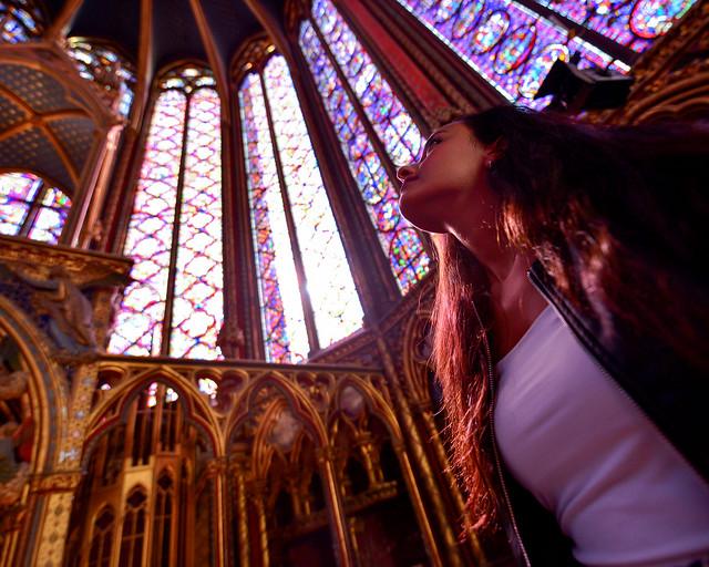 Interior de la Santa Capilla de París