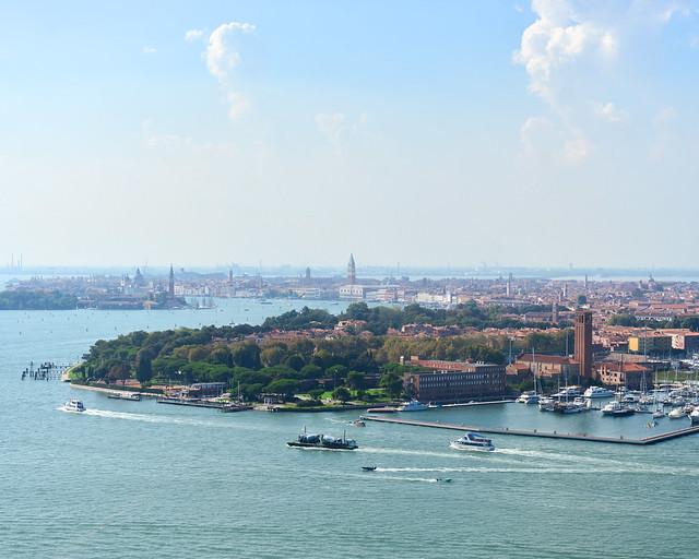 Skyline de Venecia desde el aire