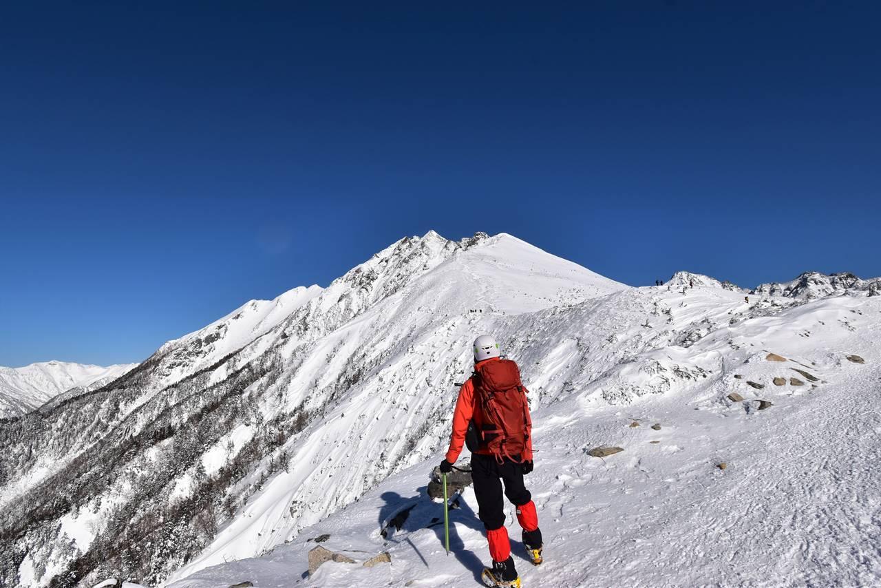 西穂高岳独標 日帰り雪山登山
