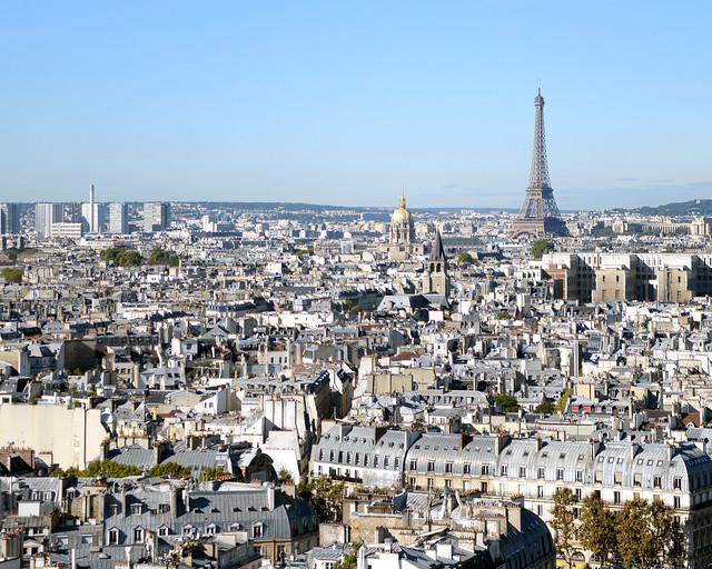 La torre Eiffel desde Notre Dame