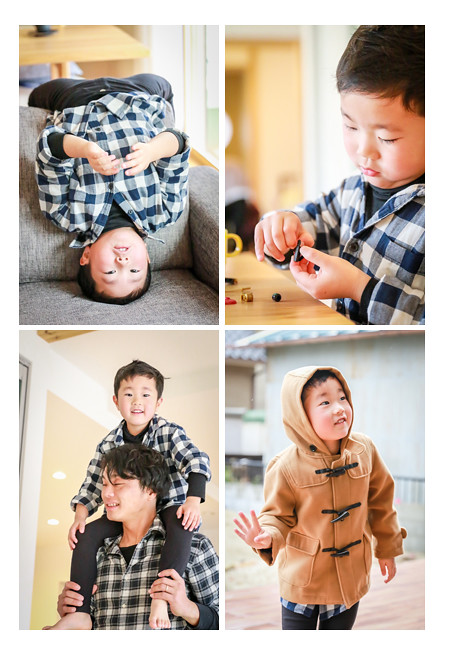 5歳の男の子 パパの肩車