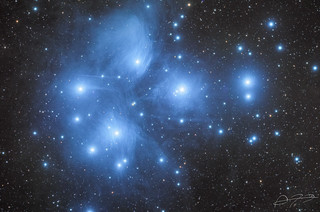 The Pleiades (M45) - LRGB | by Alejandro Pertuz
